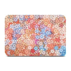 Art Beautiful Flowers Flames Generative Art Plate Mats