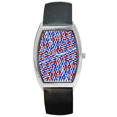 Art Unique Design Kaleidoscope Barrel Style Metal Watch