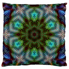 Abstract Art Background Flames Large Cushion Case (two Sides)