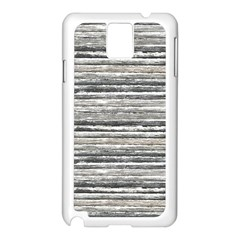Striped Grunge Print Design Samsung Galaxy Note 3 N9005 Case (white) by dflcprintsclothing