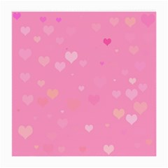 Pinkhearts Medium Glasses Cloth by designsbyamerianna