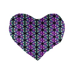 Triangle Seamless Standard 16  Premium Heart Shape Cushions by Mariart