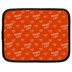 Motivational Happy Life Words Pattern Netbook Case (large)