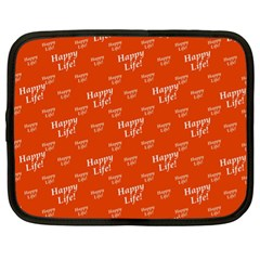 Motivational Happy Life Words Pattern Netbook Case (xl)