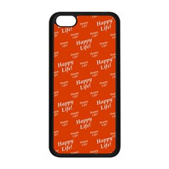 Motivational Happy Life Words Pattern Iphone 5c Seamless Case (black)