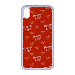 Motivational Happy Life Words Pattern Iphone Xr Seamless Case (white)