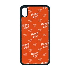 Motivational Happy Life Words Pattern Iphone Xr Seamless Case (black) by dflcprintsclothing
