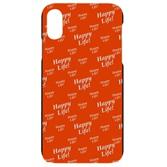 Motivational Happy Life Words Pattern Iphone Xr Black Uv Print Case