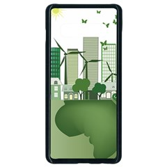 Vector Energy Saving Caring For The Earth Samsung Galaxy S10 Plus Seamless Case (black)