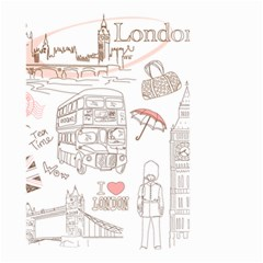 London Paris Drawing Vector London Comics Small Garden Flag (two Sides) by Bejoart