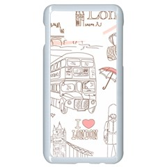 London Paris Drawing Vector London Comics Samsung Galaxy S10e Seamless Case (white)
