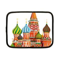 Moscow Kremlin Saint Basils Cathedral Red Square L Vector Illustration Moscow Building Netbook Case (small)