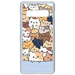 Cat Kitten Samsung Galaxy S10 Seamless Case(white)