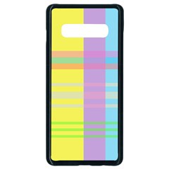 Easter Background Easter Plaid Samsung Galaxy S10 Plus Seamless Case (black)