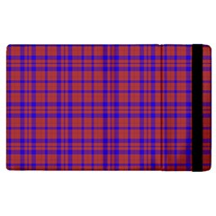 Pattern Plaid Geometric Red Blue Apple Ipad 2 Flip Case by Simbadda