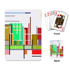 Business Finance Statistics Graphic Playing Cards Single Design (rectangle) by Simbadda