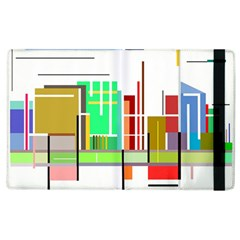 Business Finance Statistics Graphic Apple Ipad 2 Flip Case by Simbadda