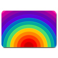 Rainbow Background Colorful Large Doormat