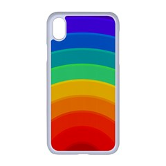 Rainbow Background Colorful Iphone Xr Seamless Case (white)