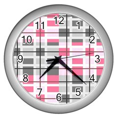 Fabric Textile Nursery Pale Baby Wall Clock (silver) by Simbadda