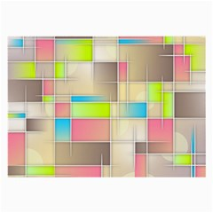 Background Abstract Grid Large Glasses Cloth (2 Sides) by Simbadda