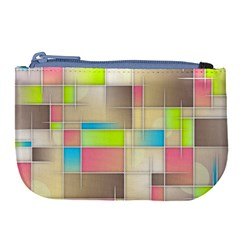 Background Abstract Grid Large Coin Purse by Simbadda