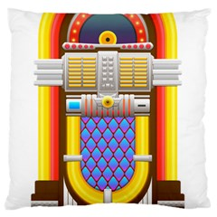 Jukebox Music Record Player Retro Standard Flano Cushion Case (two Sides) by Simbadda