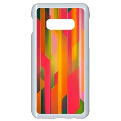 Background Abstract Colorful Samsung Galaxy S10e Seamless Case (white)