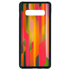 Background Abstract Colorful Samsung Galaxy S10 Plus Seamless Case (black)
