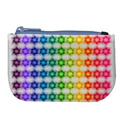 Background Colorful Geometric Large Coin Purse by Simbadda
