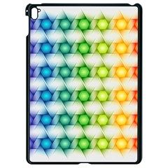 Background Colorful Geometric Apple Ipad Pro 9 7   Black Seamless Case by Simbadda