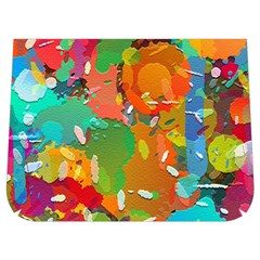 Background Colorful Abstract Buckle Messenger Bag