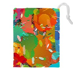 Background Colorful Abstract Drawstring Pouch (xxxl) by Simbadda