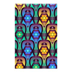 Pattern Background Bright Blue Shower Curtain 48  X 72  (small)  by Simbadda