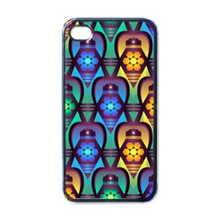Pattern Background Bright Blue Iphone 4 Case (black) by Simbadda