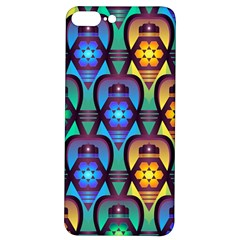Pattern Background Bright Blue Iphone 7/8 Plus Soft Bumper Uv Case