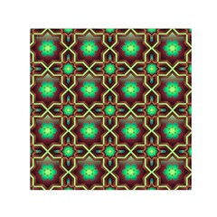 Pattern Background Bright Brown Small Satin Scarf (square)