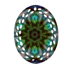 Art Background Flames Ornament (oval Filigree)