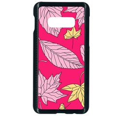 Autumn Dried Leaves Dry Nature Samsung Galaxy S10e Seamless Case (black)