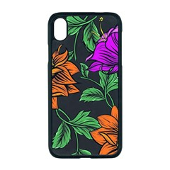 Floral Background Drawing Iphone Xr Seamless Case (black)