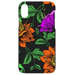 Floral Background Drawing Iphone Xr Black Uv Print Case