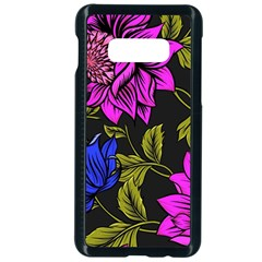 Botany Floral Flower Plant Petals Samsung Galaxy S10e Seamless Case (black)
