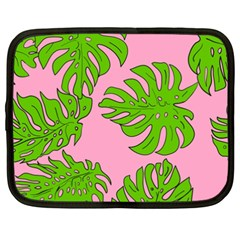 Leaves Tropical Plant Green Garden Netbook Case (xxl) by Simbadda