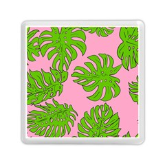 Leaves Tropical Plant Green Garden Memory Card Reader (square) by Simbadda