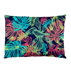 Leaves Tropical Picture Plant Pillow Case (two Sides) by Simbadda