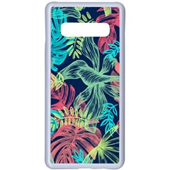 Leaves Tropical Picture Plant Samsung Galaxy S10 Plus Seamless Case(white)