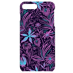 Stamping Pattern Leaves Drawing Iphone 7/8 Plus Black Uv Print Case by Simbadda
