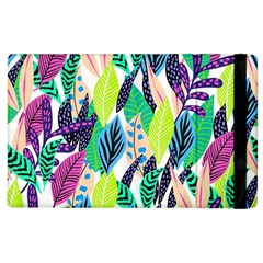 Leaves Drawing Pattern Nature Apple Ipad 2 Flip Case by Simbadda