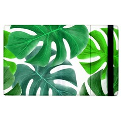 Tropical Greens Leaves Design Apple Ipad 2 Flip Case by Simbadda