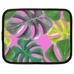 Tropical Greens Leaves Design Netbook Case (xxl) by Simbadda
